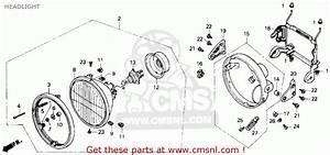 Honda Cb400f Cb1 1989  K  Usa Headlight