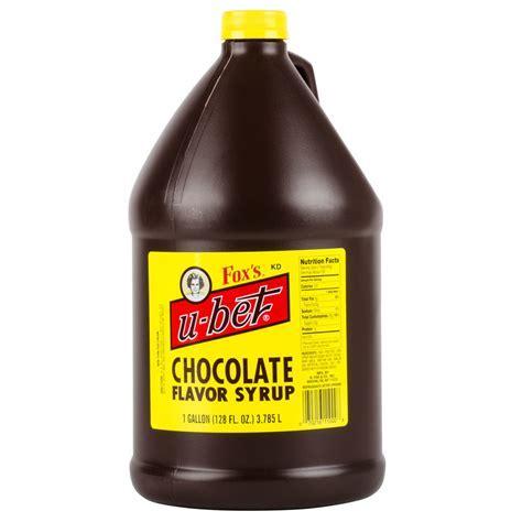 Fox's U Bet Chocolate Syrup 1 Gallon