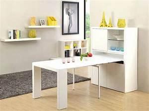 Meuble Avec Table Rabattable : meuble cuisine avec table integree ~ Teatrodelosmanantiales.com Idées de Décoration