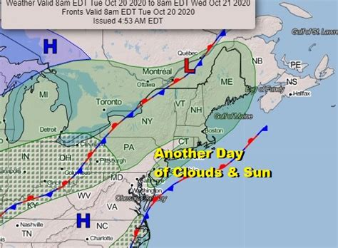 Another Warm Day Ahead Clouds Sun No Outlook Changes ...