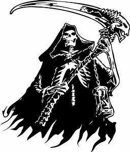 Grim Reaper Skeleton Skull Car Tattoo Boat Truck Window ...