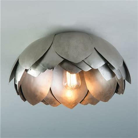 metal lotus flush mount ceiling light mediterranean