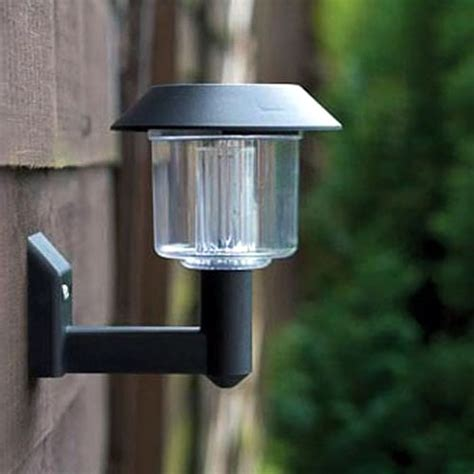 8 x solar powered led door fence wall lights outdoor