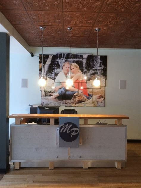 custom  reception desk  rugged cross fine art