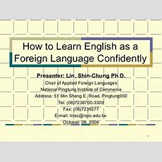 How To Learn English Confidently