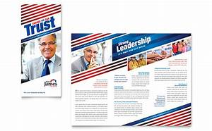 political campaign tri fold brochure template design With political newsletter template