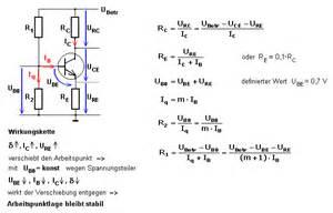 transistor berechnen formeln grundlagen transistor