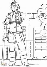 Firefighting Trabalhador Craftedhere Firemen sketch template