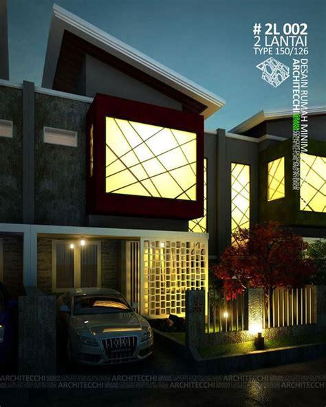desain rumah  konsep minimalis modern  terdiri