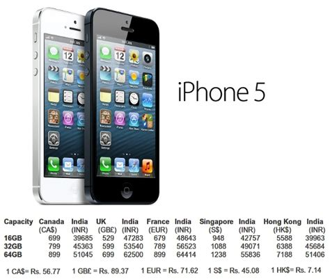 iphone 5 price in india apple iphone 5 prices compared across the world