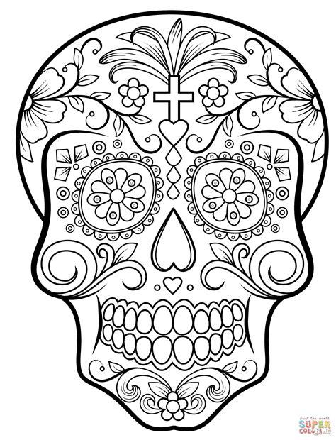 Sugar Skull Coloring Pages Bestofcoloringcom
