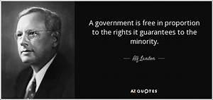 QUOTES BY ALF L... Alf Landon Famous Quotes