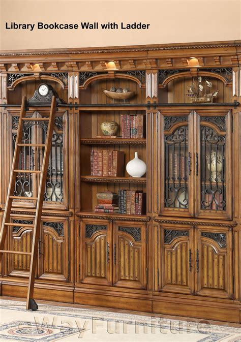 Parker House Barcelona Library Bookcase Wall With Ladder