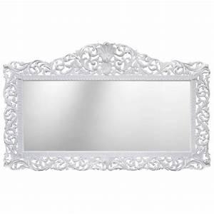 Miroir Blanc Baroque : enorme miroir de style baroque en bois laqu blanc ~ Teatrodelosmanantiales.com Idées de Décoration