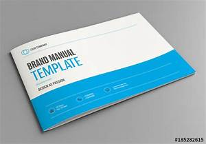 Brand Manual Layout With Blue Accents  Buy This Stock