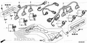 Honda Motorcycle 2012 Oem Parts Diagram For Injector