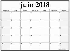 juin 2018 calendrier imprimable calendrier gratuit