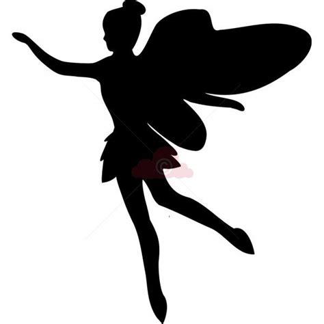simple template  birthday cake fairy silhouette