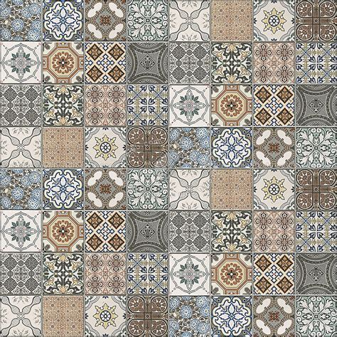 Patchwork tile texture seamless 16611