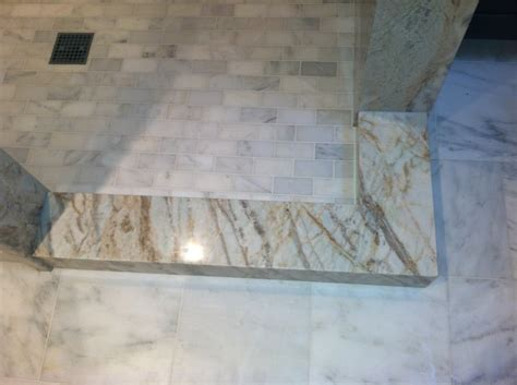 granite slab shower curb with marble shower floor yelp
