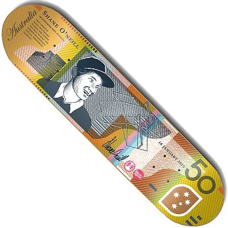 skate mental shane o neill currency deck in stock at spot
