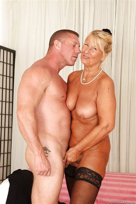 Muscular Man Is Fucking Slutty Blonde Granny Granny In Her