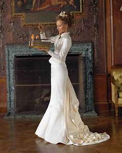 classic wedding dress cuts by decade martha stewart weddings With victorian inspired wedding dresses