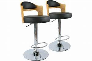 lot de 2 tabourets de bar chene clair et noir isabella With meuble 9 cases blanc 19 tabouret de bar noir