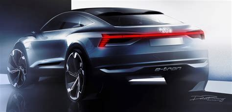 Audi Etron Sportback Concept Teased Ahead Of Its Shanghai
