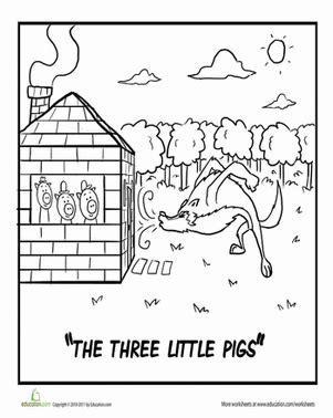 Three Little Pigs Worksheet Education com