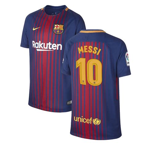 Nike Lionel Messi Barcelona Youth Royal 201718 Home