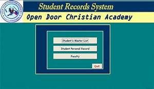 Students Records System Version 1.0 | Free source code ...