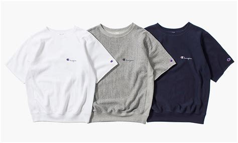nanamica  champion summer  cut  sleeve sweatshirts