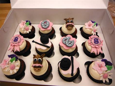 horseback riding themed cupcake toppers  etsy