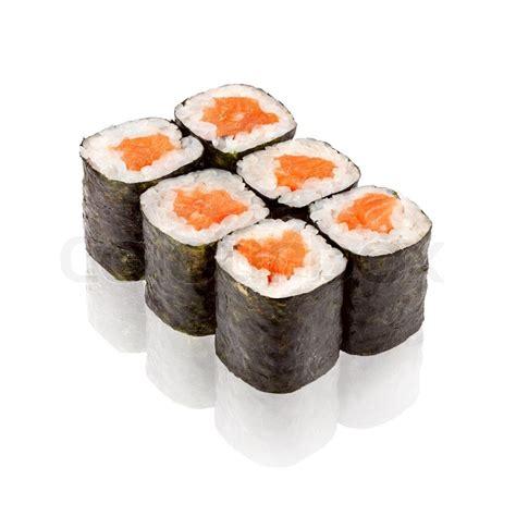 cuisine sushi japanese cuisine salmon maki sushi stock photo colourbox