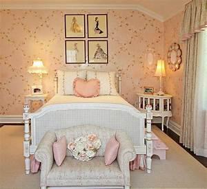 Chambre Shabby Chic : chambre ado fille decoration style shabby chic ideeco ~ Preciouscoupons.com Idées de Décoration