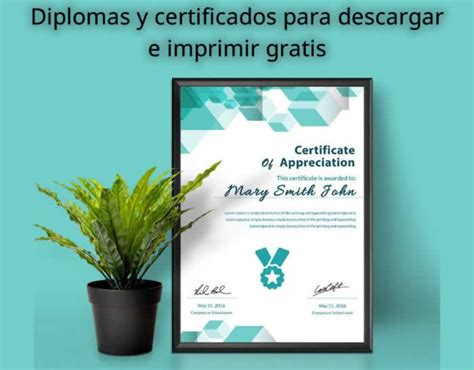 diplomas y certificados editables para descargar e imprimir gratis recursos gratis en