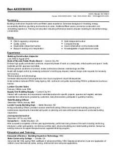 resume for construction inspector building inspectors resume exles construction resumes
