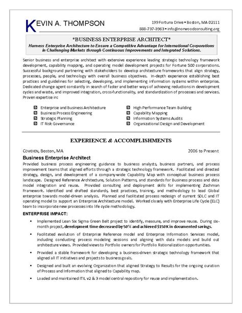 business intelligence architect resume sle doc process engineering resume template