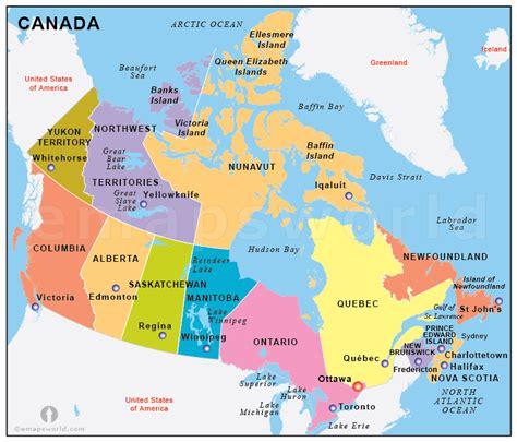canada states map states map  canada canada