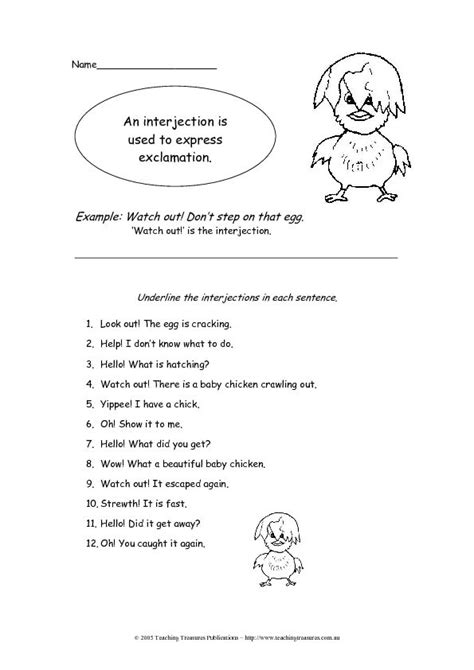 Interjections Worksheet  Lesson Planet  Fifth Grade  Pinterest  Worksheets, Lesson Planet