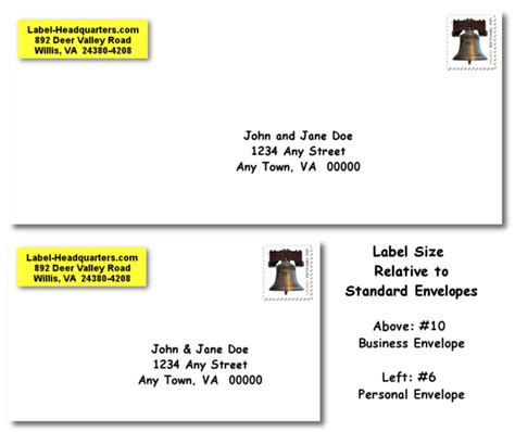 personalized roll address labels  larger size