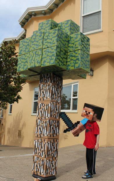 cardboard  bit tree   minecraft style