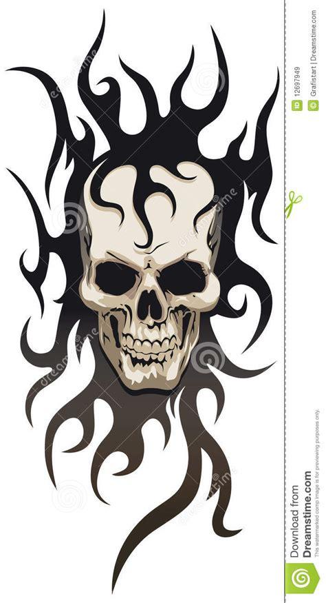 skull tribal tattoo stock vector image  skull metal