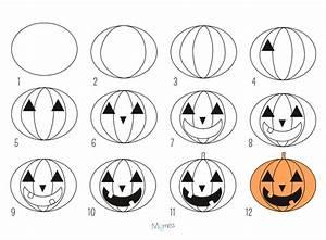 Dessin Citrouille Facile : apprendre dessiner la citrouille d 39 halloween ~ Melissatoandfro.com Idées de Décoration