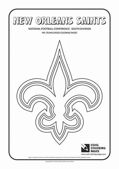 Coloring Nfl Football Logos Cool Saints Orleans