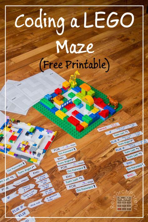 coding  lego maze bigdiyideascom