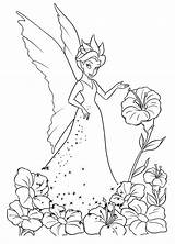 Fairy Coloring Flower sketch template