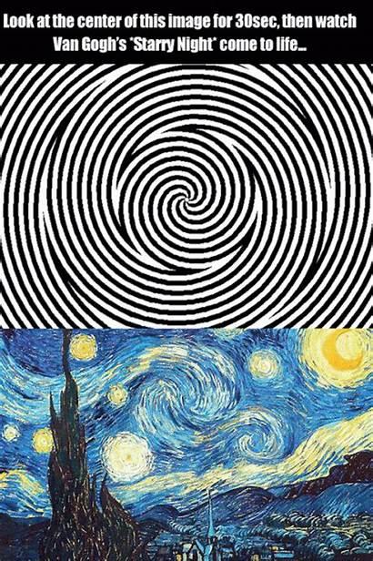 Illusion Gifs Painting Paintings Night