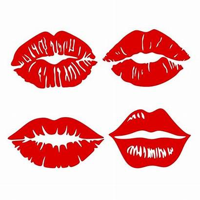 Lips Svg Silhouette Lip Kiss Kissing Cricut